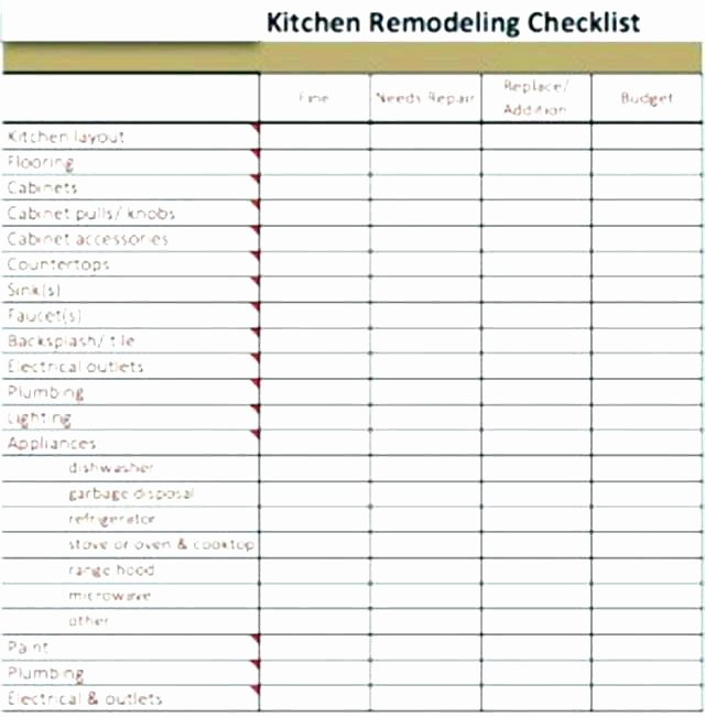 House Renovation Checklist Template New Kitchen Remodel Bud Worksheet Kidz Activities