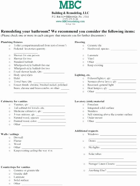 House Renovation Checklist Template Unique Building A House Checklist Excel Home Renovation List