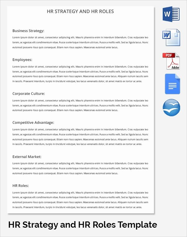 Hr Strategic Plan Template Awesome 17 Sample Hr Strategy Templates