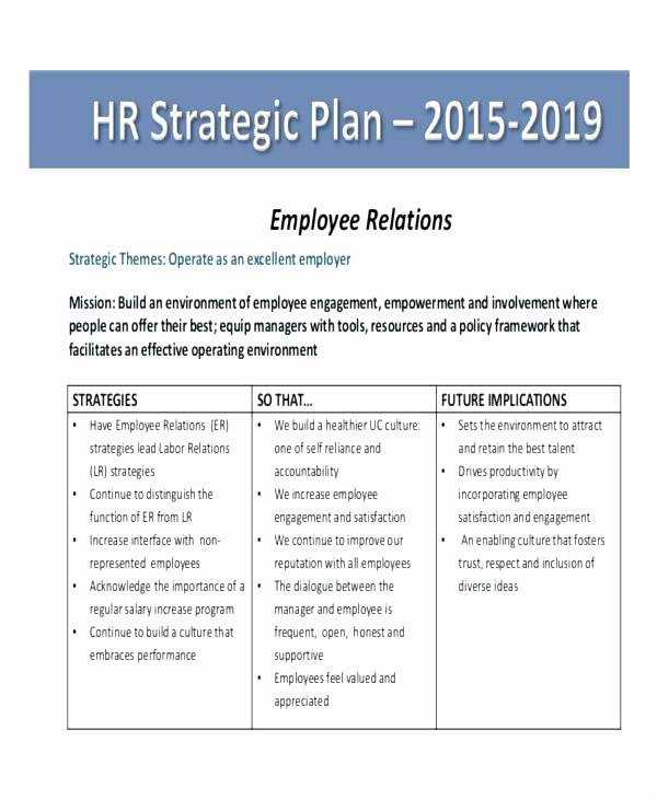 Hr Strategic Plan Template New Employee Accountability Template – Ertkfo