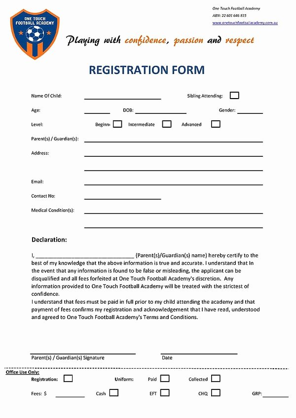 Html Registration form Template Awesome Academy Registration form Templates