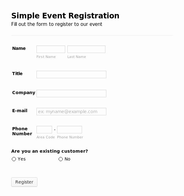 Html Registration form Template Best Of Printable Registration form Templates Word Excel Samples
