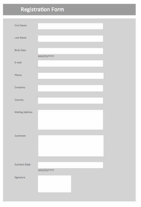 Html Registration form Template New form Maker form Design Create A form Design