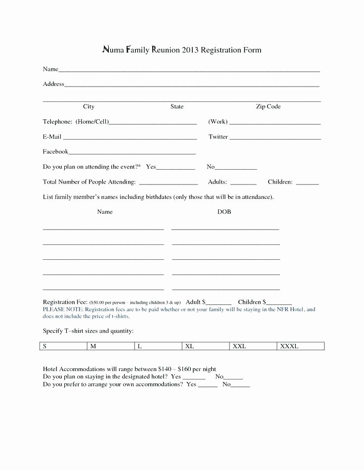 Html Registration form Template New Hotel Registration form Template Word Elegant forms Resume