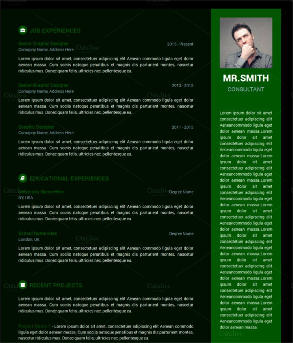 Html5 Resume Template Free Beautiful 11 HTML5 Resume Templates Free Responsive Templates