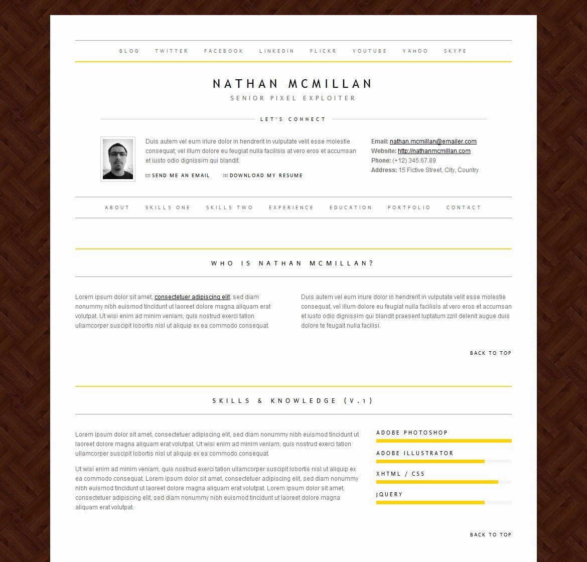 Html5 Resume Template Free Inspirational 41 HTML5 Resume Templates Free Samples Examples format