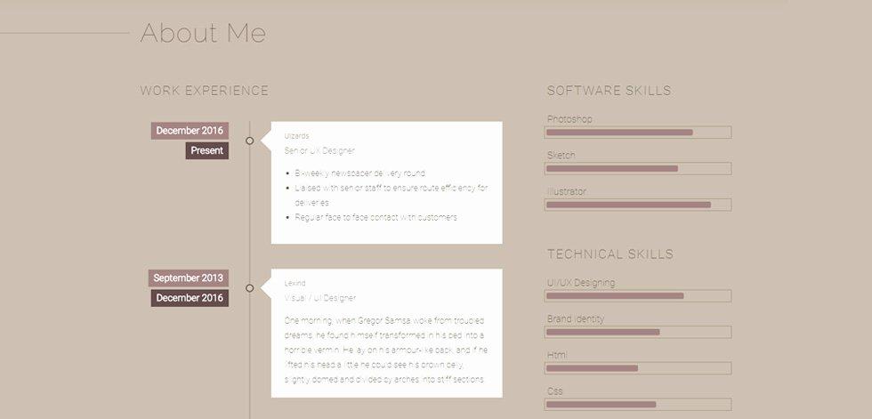Html5 Resume Template Free Lovely Caligo Premium Responsive Resume & Cv Bootstrap 4 HTML5