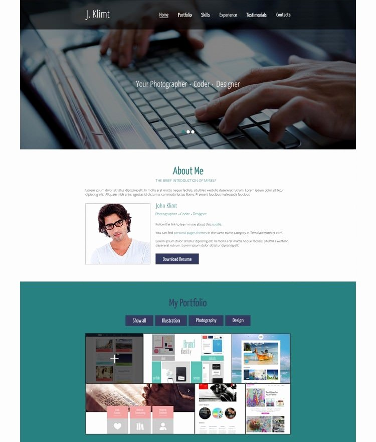 Html5 Resume Template Free Luxury 41 HTML5 Resume Templates Free Samples Examples format
