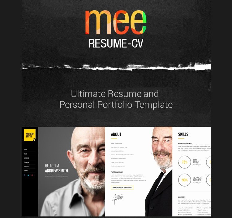 Html5 Resume Template Free New 41 HTML5 Resume Templates Free Samples Examples format