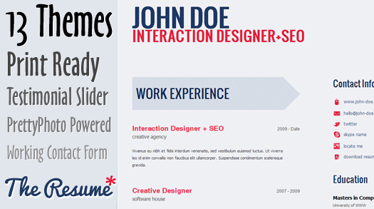 Html5 Resume Template Free New Free Professional HTML5 Cv Resume Template the Resume