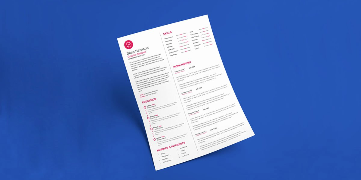 Html5 Resume Template Free New top 10 Creative Resume Templates