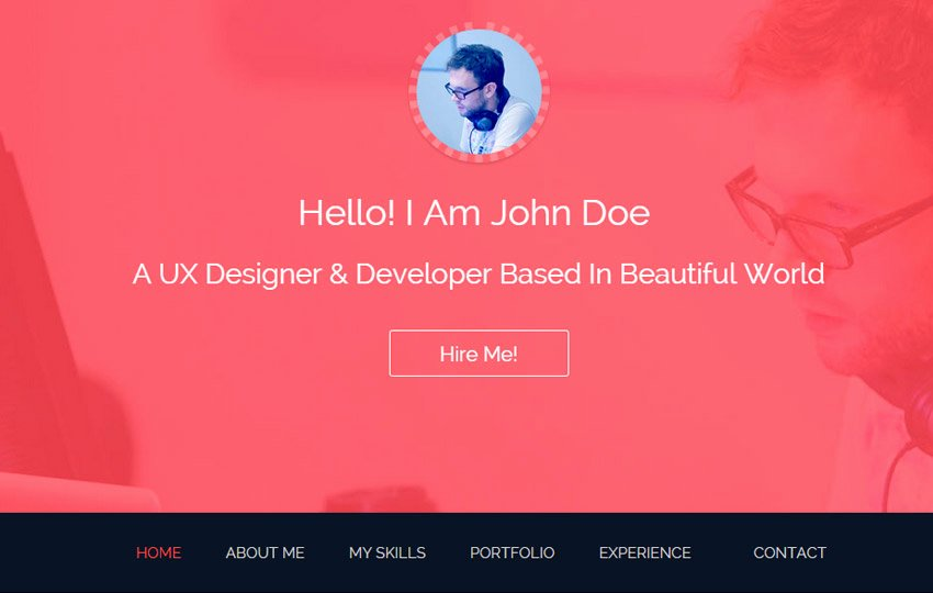 Html5 Resume Template Free Unique Bootstrap E Page Template