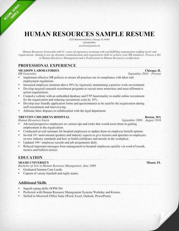 Human Resource Manager Resume Template Awesome 21 Best Hr Resume Templates for Freshers & Experienced