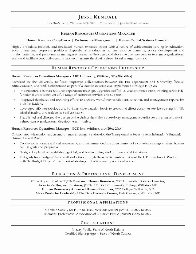 Human Resource Manager Resume Template Best Of 28 Human Resource Manager Resume Examples