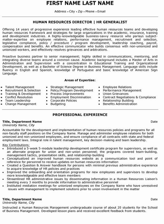 Human Resource Manager Resume Template Elegant top Human Resources Resume Templates & Samples