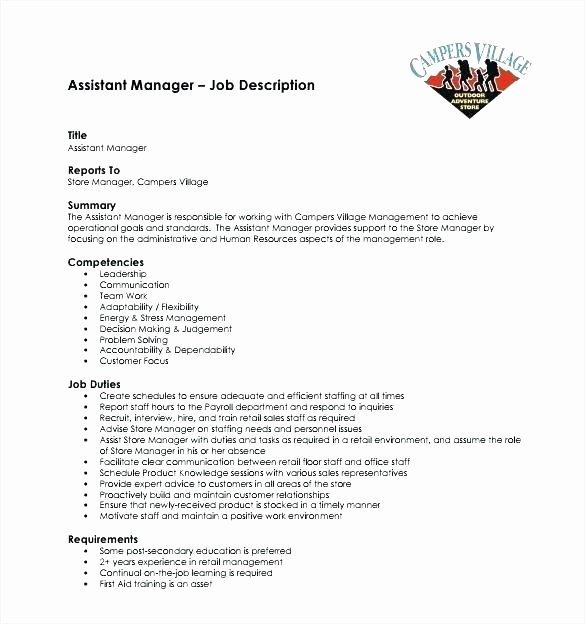 Human Resource Manager Resume Template Unique Hr Job Description Templates Free Premium Ficer Template