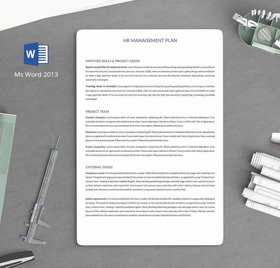 Human Resource Plan Template Elegant 7 Free Human Resource Strategy Templates Sales