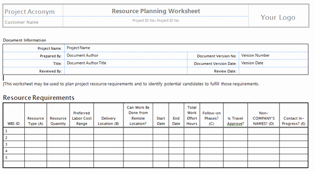 Human Resource Plan Template Elegant Download Human Resource Plan Template Pmbok – Free