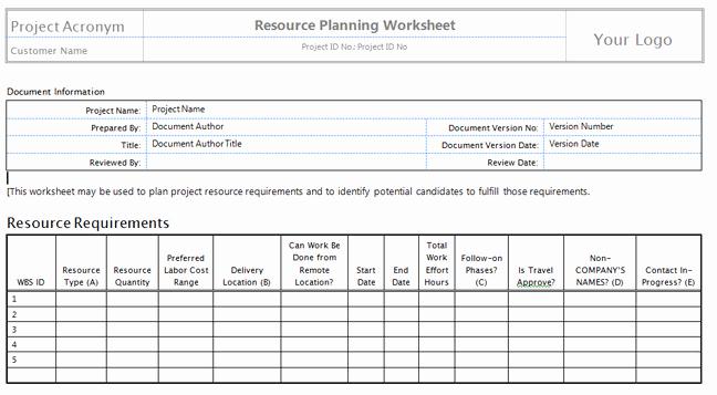 Human Resource Plan Template Elegant Download Human Resource Plan Template Pmbok – Free