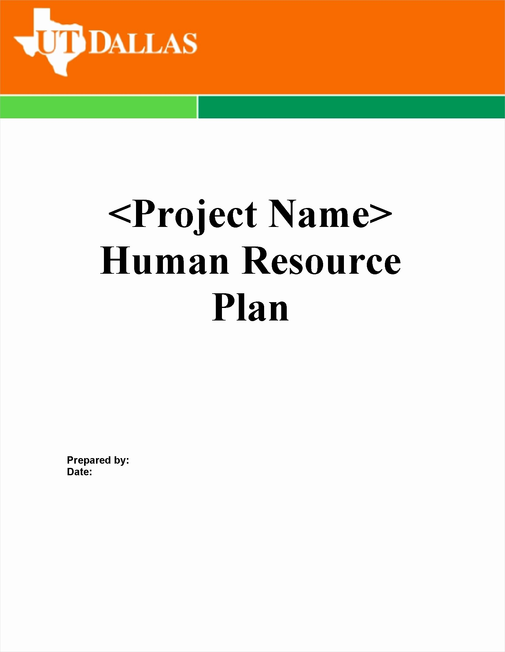 Human Resource Plan Template New 29 Hr Templates Examples & Samples