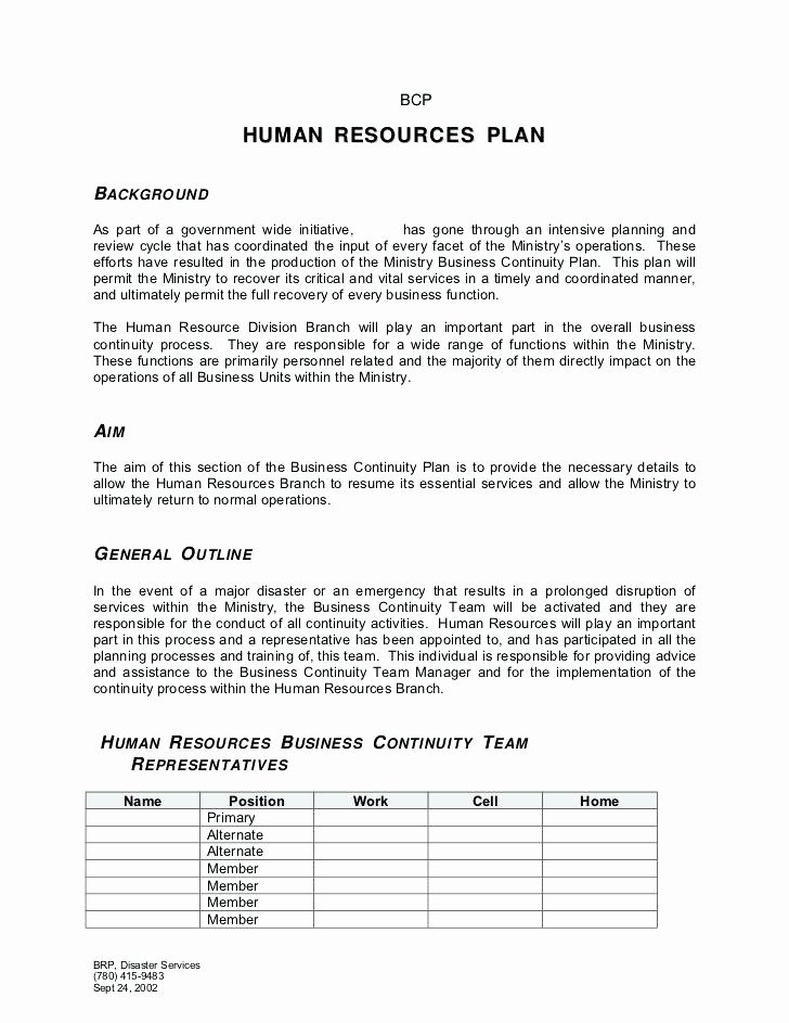 Human Resource Plan Template New Human Resources Plan Template – Azserverfo