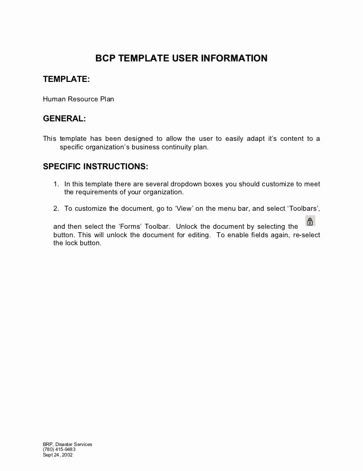 Human Resource Plan Template Unique Human Resources Plan Template 1