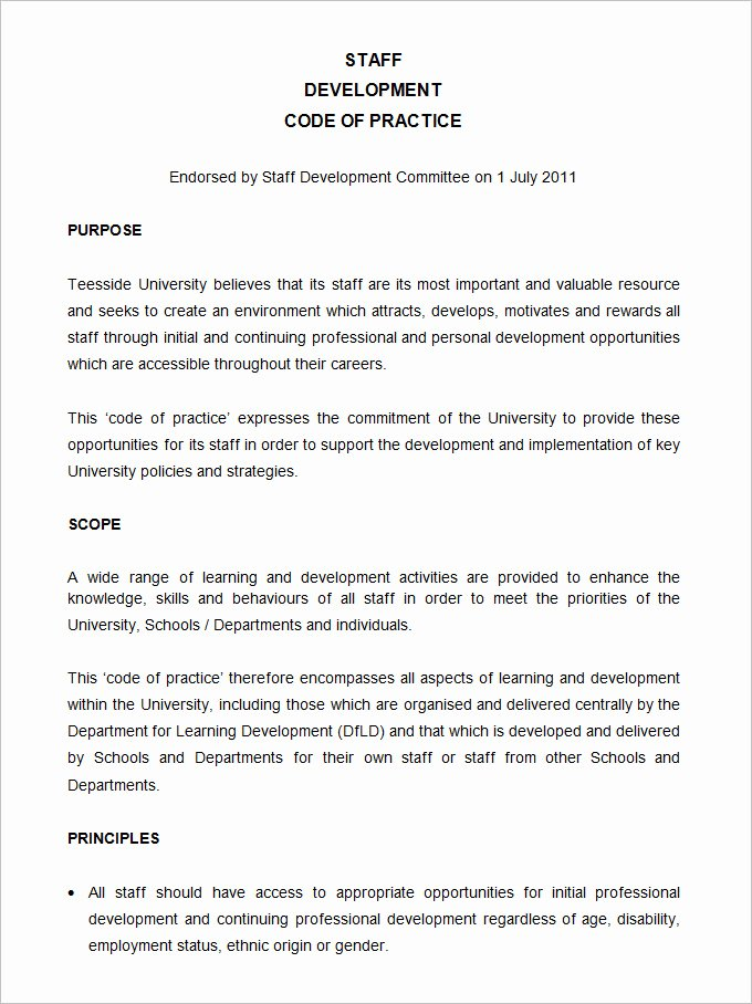 Human Resource Policy Template Best Of Sample Policy