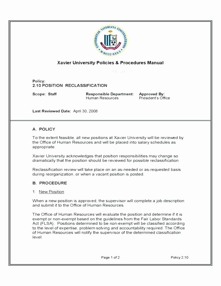 Human Resource Policy Template Inspirational Policy Manual Template Hr Policy Manual Example