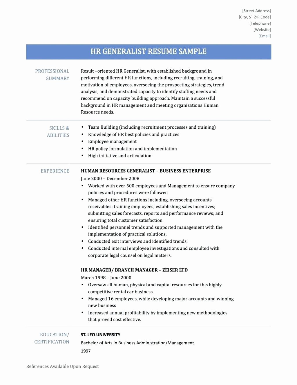 Human Resource Policy Template New Excuse Letter Template