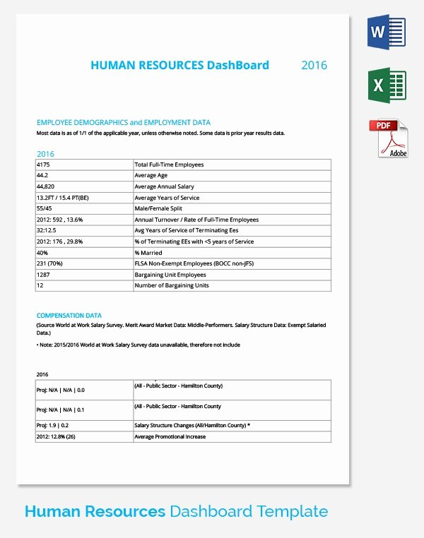 Human Resources Dashboard Excel Template Lovely Hr Dashboard Template 21 Free Word Excel Pdf