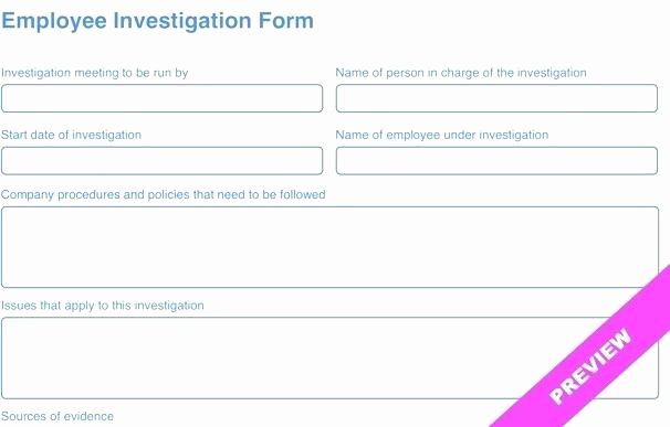 Human Resources Investigation Report Template Awesome Hr Investigation Template Hr Investigation Report Template
