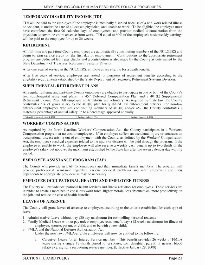 Human Resources Policy Template Beautiful Human Resources Policies and Procedures Template