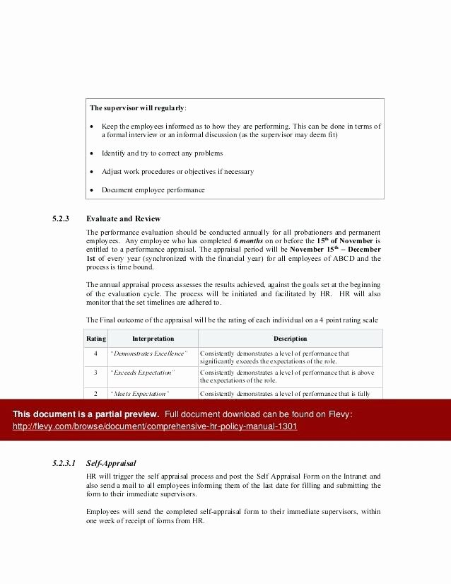 Human Resources Policy Template Elegant Sample Human Resources Policies and Procedures Manual Hr