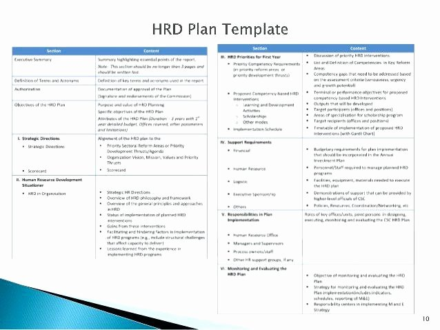 Human Resources Strategic Planning Template Awesome Hr Strategic Plan Template Human Resources Service