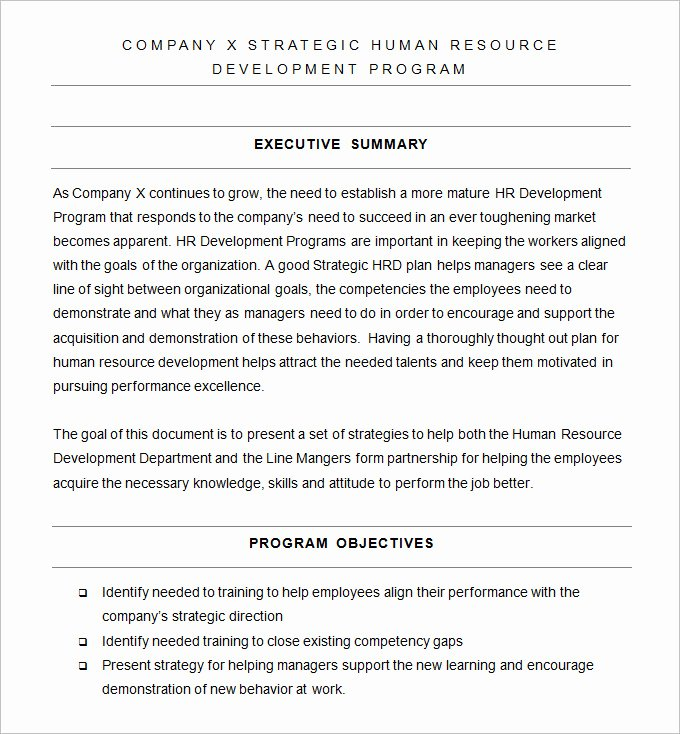 Human Resources Strategic Planning Template Luxury Hr Strategy Template 31 Word Pdf Documents Download