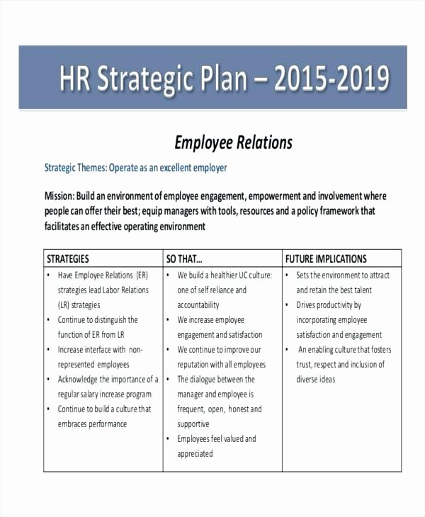 Human Resources Strategic Planning Template Luxury Human Resource Strategic Plan Template – Vraccelerator