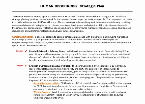 Human Resources Strategic Planning Template New 26 Hr Strategy Templates Free Sample Example format