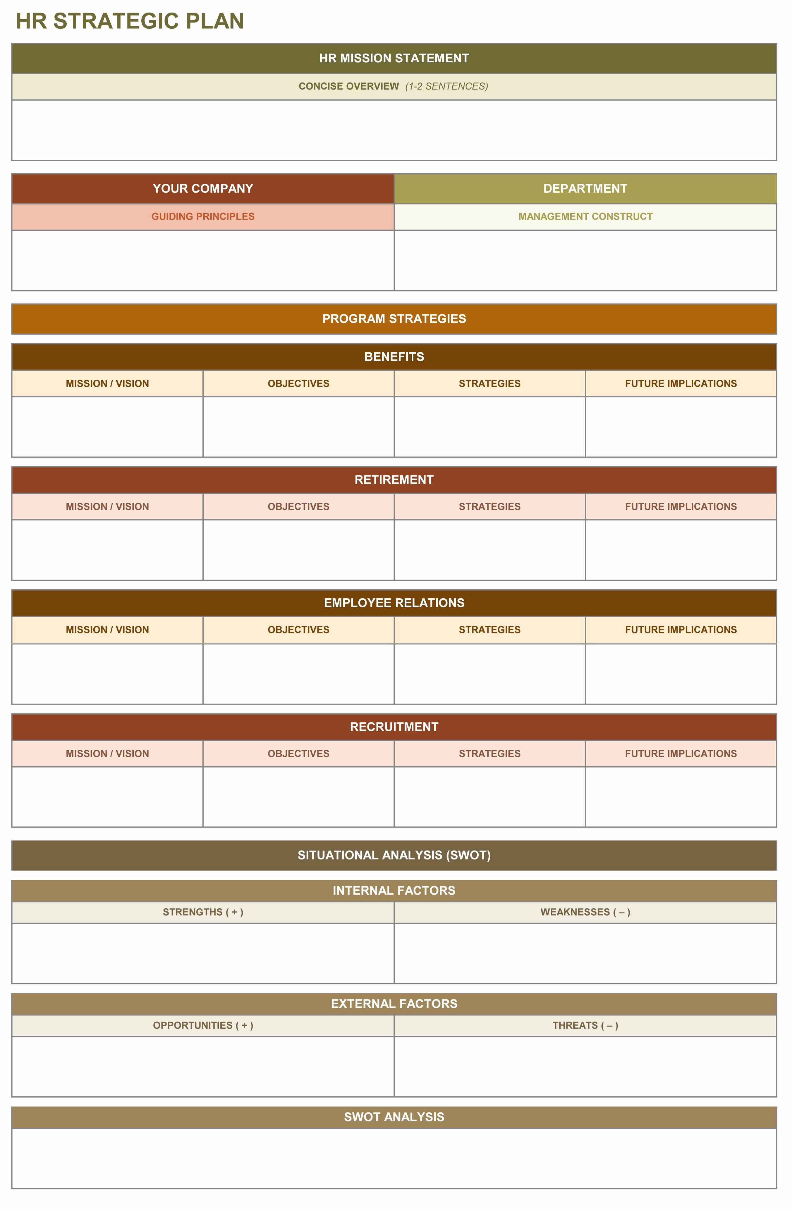 Human Resources Strategic Planning Template New 9 Free Strategic Planning Templates Smartsheet