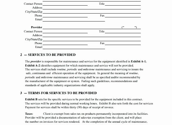 Hvac Maintenance Agreement Template Fresh Hvac Contract Template – Crookedroad