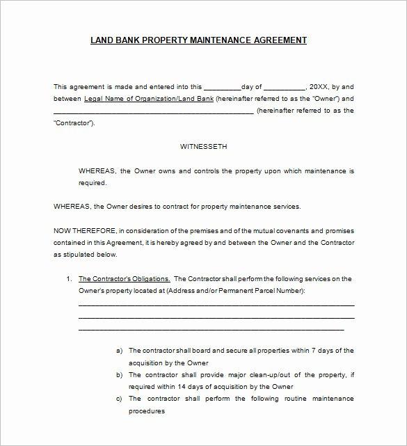 Hvac Maintenance Agreement Template Fresh Hvac Maintenance Contract Template Templates Collections