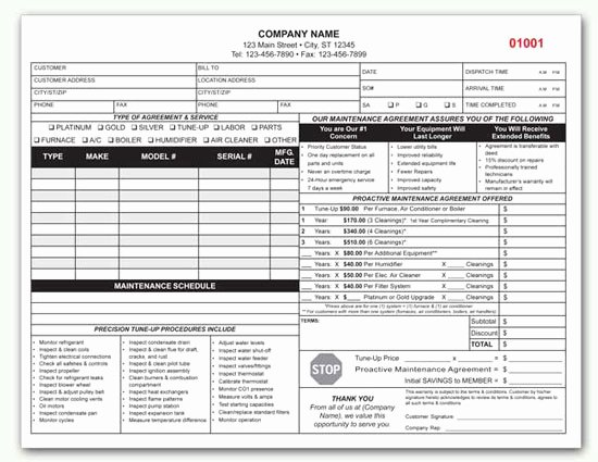 Hvac Maintenance Agreement Template Inspirational Hvac Contract Custom Hvac Contract form