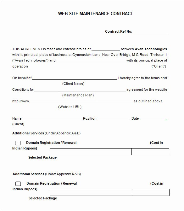 Hvac Maintenance Contract Template Best Of 20 Maintenance Contract Templates Docs Word Pages
