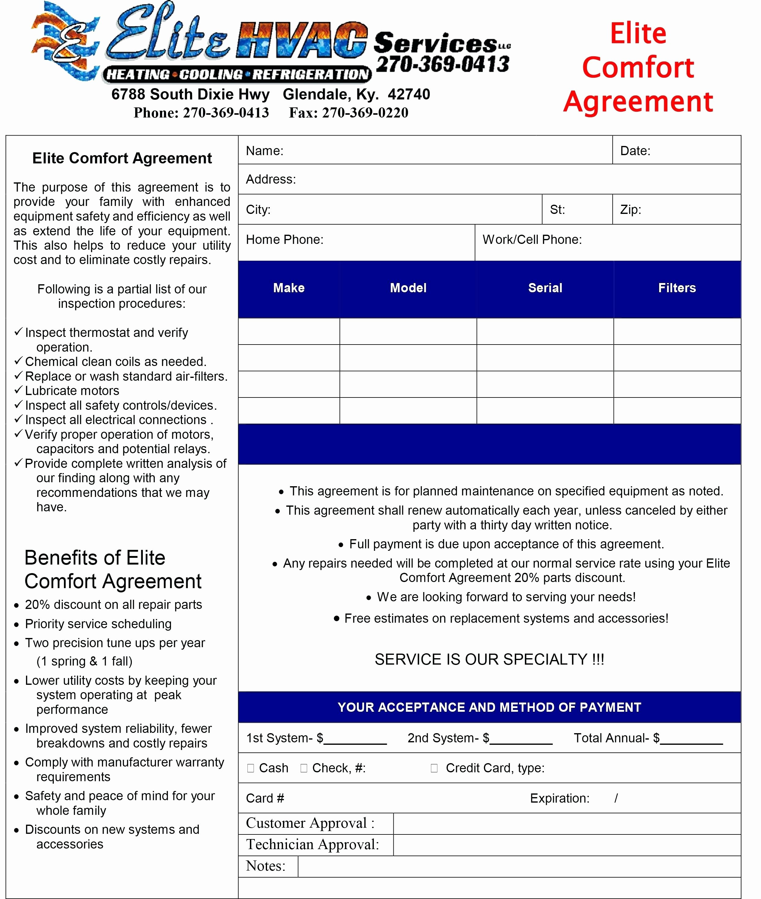 Hvac Preventive Maintenance Agreement Template Beautiful Hvac Maintenance Agreement Template