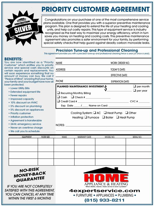Hvac Service Agreement Template Beautiful Ac Tune Up Kankakee Furnace Tune Up Il