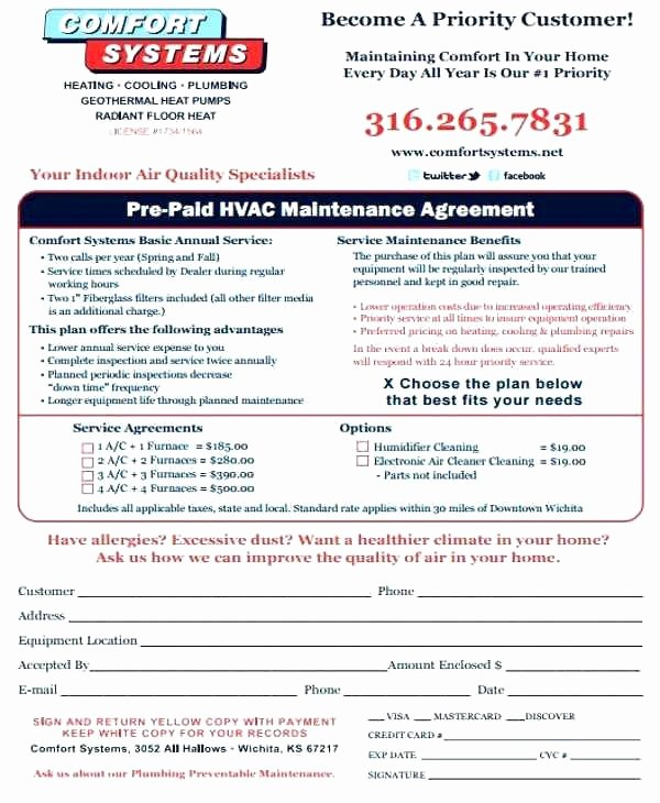 Hvac Service Agreement Template Beautiful Hvac Contract Template – Crookedroad