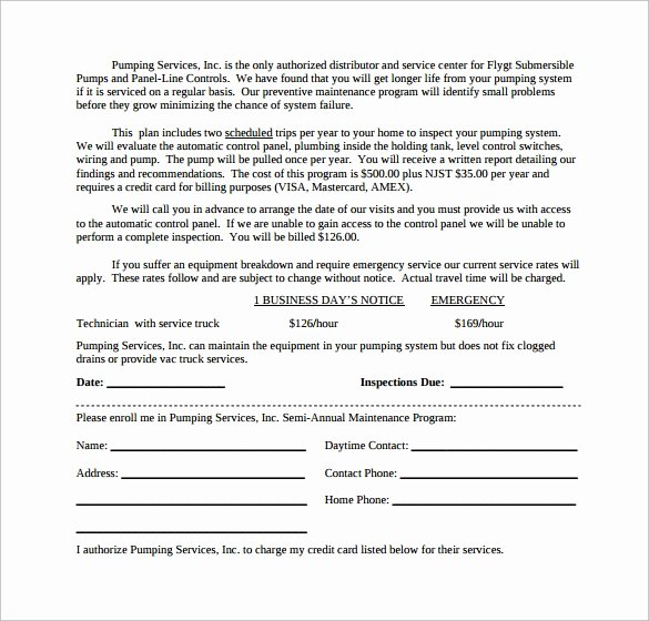 Hvac Service Agreement Template Best Of 14 Maintenance Contract Templates to Download for Free