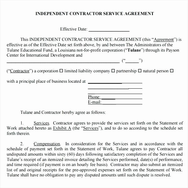 Hvac Service Agreement Template Best Of Service Agreement Template Sample 6 Free Documents