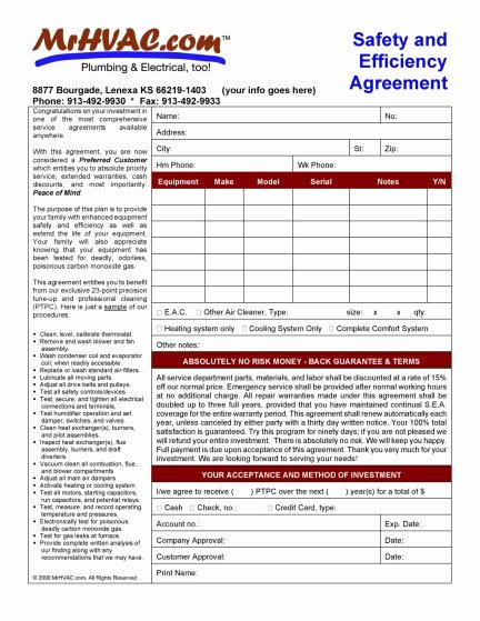 Hvac Service Contract Template Awesome List Of Products All Mr Hvac software and Advice