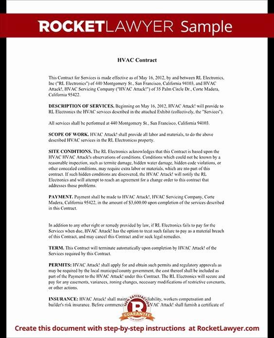 Hvac Service Contract Template Unique Templates On Pinterest