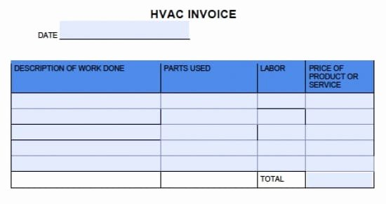 Hvac Service order Invoice Template Best Of Free Hvac Invoice Template Excel Pdf